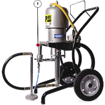 Окрасочный аппарат с пневмоприводом CONTRACOR ASP-451