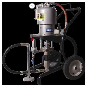 Окрасочный аппарат с пневмоприводом  CONTRACOR ASP-681